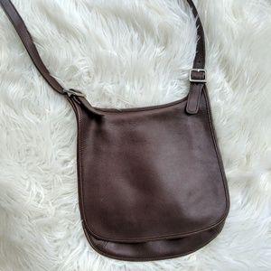 Coach brown leather flap purse